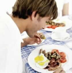 Man eating breakfast 1